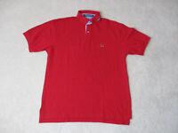 VINTAGE Tommy Hilfiger Polo Shirt Adult Medium Red Crest Logo Rugby Mens 90s
