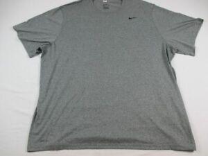 Nike Short Sleeve Shirt Men's Gray Dri-Fit Used 4XL