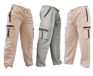 Nomadic Cotton Border Trousers Jogger Cargo Combat Travel Casual Loose Pants