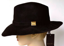 GUCCI New sz S Brown Authentic Womens Designer Rabbit Fur Wide Brim Trilby Hat