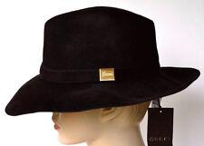 GUCCI New sz S Brown Authentic Womens Designer Rabbit Fur Wide Brim Trilby Hat