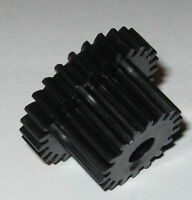 Thermoplastic Metric Dual Spur Gear - 6 mm Bore - 27 Teeth - 28.5 / 19.5 mm OD
