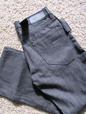 NEW SEAN JOHN HAMILTON STRAIGHT FIT  JEANS MENS 32X32 RAW BLACK FREE SHIP
