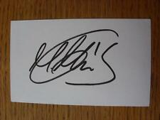 50's-2000's Autographed White Card: Henderson, Paul - Leicester City
