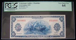 1955 2 1/2 GULDEN NETHERLANDS ANTILLES - PCGS Very Choice New 64