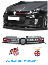 Vw Golf Mk6 2009-2013 Front Main Centre Grille Gti Only Black With Red Slats New