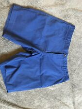 Cotton Twill John Lewis Blue Men's Shorts 40