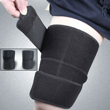 Sports Neoprene Thigh Hamstring Brace Support Wrap Sleeve Protector Relief Pain