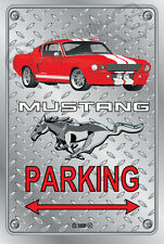 Parking Sign Metal Mustang Elanore-04 - Checkerplate Look