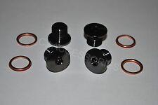schwarz Edelstahl Seite Ventil Schrauben für Suzuki GSF600 GSF650 GSF1200 Bandit