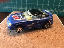 LIFE LIKE Blue/Black FORD MUSTANG  'Custom Cobra' W/ LL HO SLOT CAR Chassis