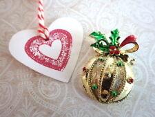 Weihnachts Kugel - Vintage Brosche Weihnachten Adventskalender Schmuck high end