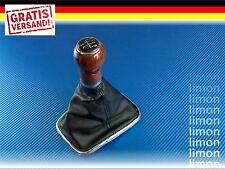 HOLZ SCHALTKNAUF + SCHALTSACK MANSCHETTE VW GOLF IV 5-GANG SCHWARZ D179