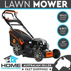 "TREX 21"" Lawn Mower Self Propelled Manual Push 4stroke Lawnmower Weeding Machine"