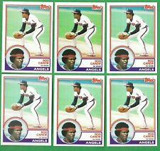 1983 Topps #200 Rod Carew (Direct From Vending Box) - Six Card Lot