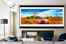 """art painting tree  Australian landscape outback abstract Jane Crawford 78"""" x 32"""""""