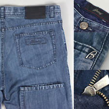 BRIONI Meribel $1195 Blue Linen & Cotton Jeans Pants W36 L30 Made in Italy