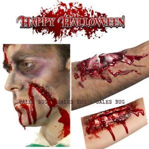 Halloween Fake Scar Wounds Fake Blood- Make Up Kit Zombie Fake blood