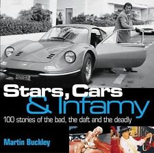 """brand new book """"Stars, Cars and Infamy"""" 200+pgs w/ lots of pics, crashes, murder"""