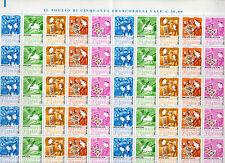 foglio francobolli giornata della filatelia 2012 - 5o valori da 0,60 ct.