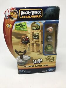 NEW Angry Birds 'Star Wars' Jenga Tatooine Battle Game Hasbro Gaming FAST SHIP