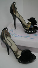 BNIB Black Patent Pearl Studded Platform Rose Heels size 4 From Like -You