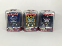Mighty Muggs Transformers Optimus Prime, Bumblebee, and Starscream - Lot of 3