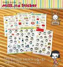 #40 Miss Ma Cute Girl PVC Stickers Deco 6 sheets