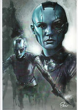 GUARDIANS Of The GALAXY - NEBULA Print HAND SIGNED by ROB PRIOR