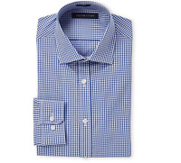 Tommy Hilfiger Men's Non Iron Slim Fit Solid Spread Collar Dress Shirt New