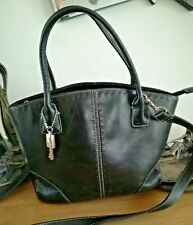 Ladies medium triple compartment Fossil leather bag