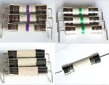 [3pcs] T1.25A, T3.15A, F5A, F6.3A, T8A, F15A - ceramic axial fuse, wires-ref:A08