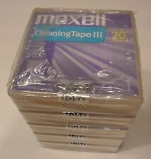 Lot of 5 NEW SEALED MAXELL 183770 DLT CLEANING TAPE CARTRIDGEs