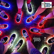 TEAM GB RIO OLYMPICS CLOSING CEREMONY -RIO LIGHTS- LIGHT UP FLASHING SHOES Sz 12