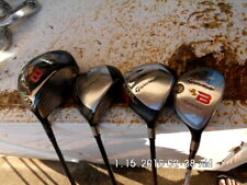SET OF TAYLORMADE BURNER WOODS 1,3,4, + A RESCUE CLUB STIFF AND REG SHAFTS