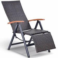 Garden Folding Rattan Aluminum Recliner Chair