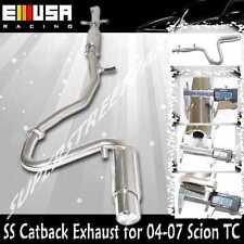 """EMUSA SS Catback Exhaust for 2004-2007 Toyota Scion TC 2 3/16"""" OD"""