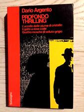 DARIO ARGENTO-PROFONDO THRILLER-Sonzogno 1975-1 ED-NANNI BALESTRINI