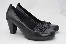WOMENS 7M 7 M CLARKS ARTISAN HEELS SHOES LEATHER HORSE BIT