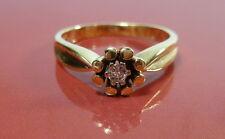 Toller Ring 54 (17,2 mm Ø)) 585/14k Gold Brillant 0,060 ct Diamant Solitaire