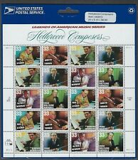 3339-44 MNH Sheet in original USPS packaging-Hollywood Composers - Plt. #P11111