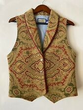 Ruff Hewn Vintage Women's Vest Size M Tapestry Multi-Color Button Made in USA