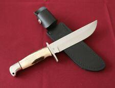 Buck Knife Frontiersman Model 124 Custom Stag Vintage Rare 2 Line Inverted