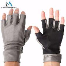 Half-Finger UV Protection Outdoor Sports Gloves Lycra Sun Gloves -- 1 Pair