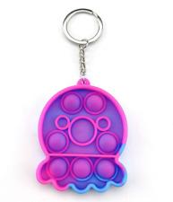 Pop Push It Bubble Fidget Toy Sensory Kids Special Needs Stress Relief keyring