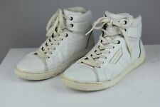 Dolce & Gabbana Men's White Leather High Top Sneakers Shoes 41.5 /  8.5 US