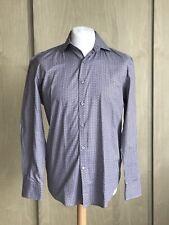 Boggi MILANO, gli uomini Camicia in cotone, misura Fit/Grande/grigio con Blue & Red modello/