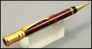 MINT RED MARBLED PARKER DUOFOLD PENCIL IN BOX