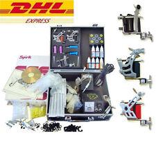 Tätowierung Komplett Set Kit 3 Tattoomaschine 7 Farben/Inks 50 Nadeln 36 Tips DE