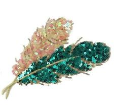23CM DIY Embroidery Sequins Leaves Cloth Patch Sew Sewing Motif Applique Patch